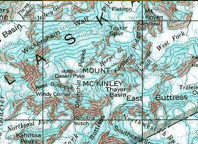 Mt Mckinley Climbers Guide Muldrow Glacier - Mt-mckinley-on-us-map